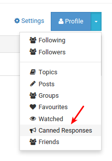 Context Menu in Account Pages